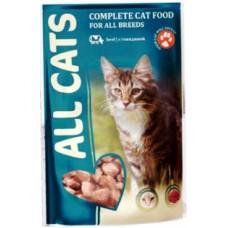 Алл Кетс (ALL CATS®)  д/кошек пауч 85 гр Говядина