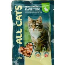 Алл Кетс (ALL CATS®)  д/кошек пауч 85 гр Кролик