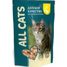 Алл Кетс (ALL CATS®)  д/кошек пауч 85 гр Курица