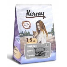 Карми (Karmy®) д/КОТЯТ Сухой Британская (BRITISH SHORTHAIR) индейка 1,5 кг