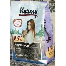 Карми (Karmy®) д/КОТЯТ Сухой Майн-Кун (MAINE COON) индейка 1,5 кг