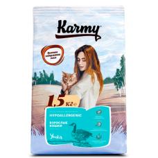 Карми (Karmy®) д/кошек HYPOALLERGENIC Утка 1,5 кг