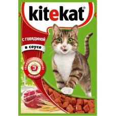 Китекет (Kitekat®) д/кошек пауч 85 гр Соус/Говядина