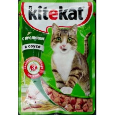 Китекет (Kitekat®) д/кошек пауч 85 гр Соус/Кролик