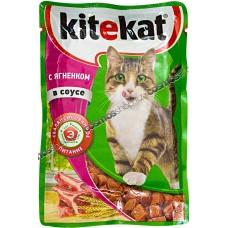 Китекет (Kitekat®) д/кошек пауч 85 гр Соус/Ягнёнок