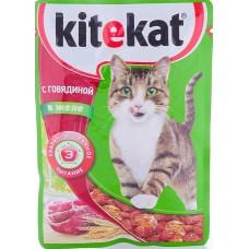 Китекет (Kitekat®) д/кошек пауч 85 гр Желе/Говядина