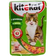 Китекет (Kitekat®) д/кошек пауч 85 гр Желе/Кролик
