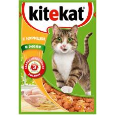 Китекет (Kitekat®) д/кошек пауч 85 гр Желе/Курица