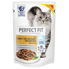 Перфект фит (Perfect Fit®) д/ Кошек с чувств. пищ. Пауч 85 гр Лосось