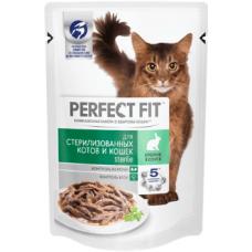 Перфект фит (Perfect Fit®) д/ Стерилиз. Кошек  Пауч 85 гр Кролик