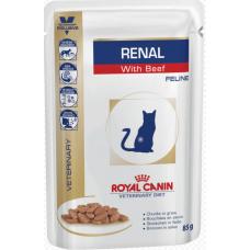Роял Канин (Royal Canin®) ветеринарная (Veterinary) д/ кошек ПАУЧ 85 гр Ренал (RENAL) c Говядиной