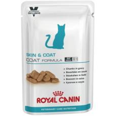 Роял Канин (Royal Canin®) ветеринарная (Veterinary) д/ кошек ПАУЧ 85 гр Скин энд Коат (SKIN&COAT)