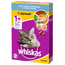 Вискас (Whiskas®) д/СТЕРИЛ. кошек Сухой Курица 350 гр