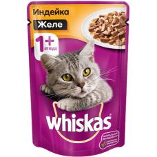 Вискас (Whiskas®) д/кошек пауч 85 гр ЖЕЛЕ Индейка