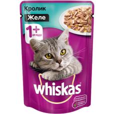 Вискас (Whiskas®) д/кошек пауч 85 гр ЖЕЛЕ Кролик
