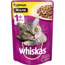 Вискас (Whiskas®) д/кошек пауч 85 гр ЖЕЛЕ Курица