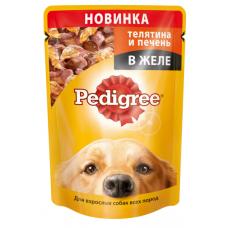 Педигри (Pedigree ®) д/ собак пауч 100 гр Телятина / Печень в желе
