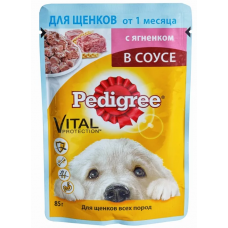 Педигри (Pedigree ®) д/ ЩЕНКОВ пауч 85 гр Ягнёнок