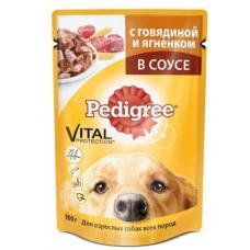 Педигри (Pedigree ®) д/ собак пауч 100 гр Говядина/Ягнёнок