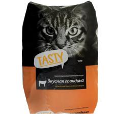 Тэсти (TASTY®) д/кошек Сухой  Говядина НА ВЕС, за кг