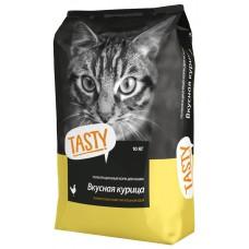 Тэсти (TASTY®) д/кошек Сухой  Курица НА ВЕС, за кг