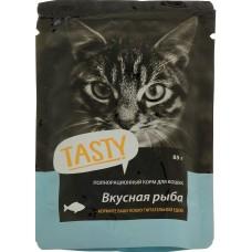 Тэсти (TASTY®) д/кошек пауч 85 гр Рыба