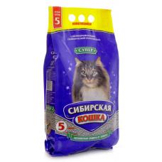 Наполнитель Сибирская Кошка СУПЕР Комкующ. 5л
