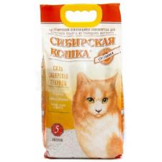 Наполнитель Сибирская Кошка ОПТИМА Комкующ. 5л