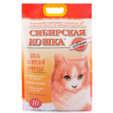 Наполнитель Сибирская Кошка ОПТИМА Комкующ. 10 л